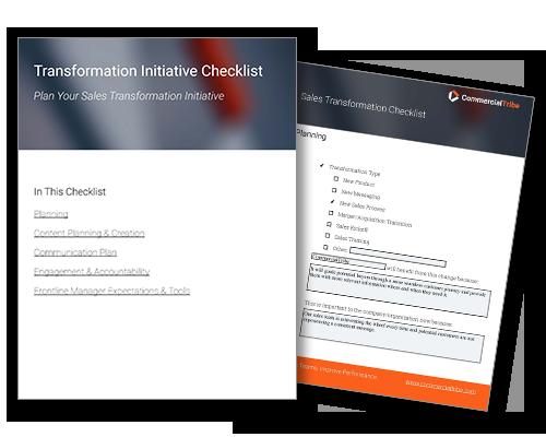 sales transformation checklist image